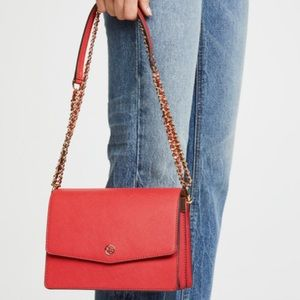 Tory Burch Robinson Convertible Leather Shoulder